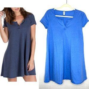 Altar'd State Cobalt Blue T-Shirt Dress